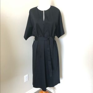 NWT COS black half sleeve midi dress